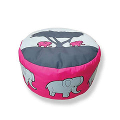 Elephant Foot Stool Bean Bag - Pink