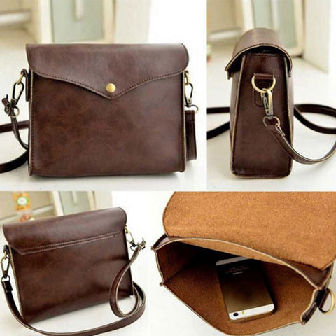 Shopping Mania Retro PU Leather Women Shoulder Bag