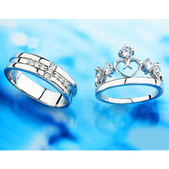 Shopping Mania Crown Couple Rings