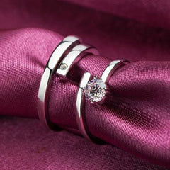 Shopping Mania Diamond Couple Platinum Ring