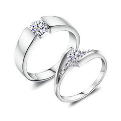 Shopping Mania Diamond Couple Silver Ring