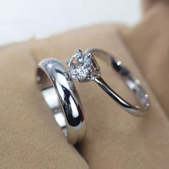 Shopping Mania Diamond Couple White Gold Ring