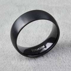 Shopping Mania Men Black Titanium Ring