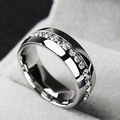 Shopping Mania Platinum Plated Diamond Ring