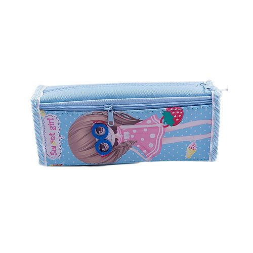 Large Capacity Pencil Box Stationary Pouch Pen Case - Blue