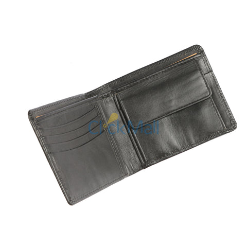 Sheikh Leather Black Leather Wallet-08 SLC-WA-Mild
