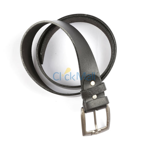 Sheikh Leather  Black Leather Belt SLC-Print-TW