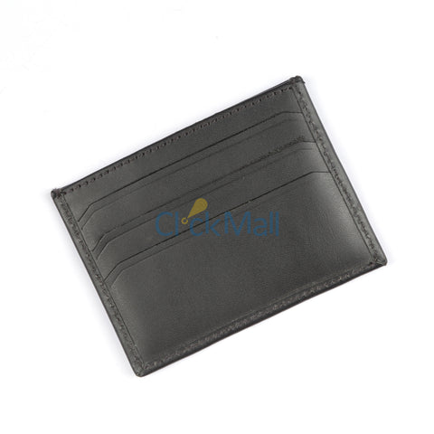 Sheikh Leather Black Leather Wallet-04 SLC-C-Holder-BL