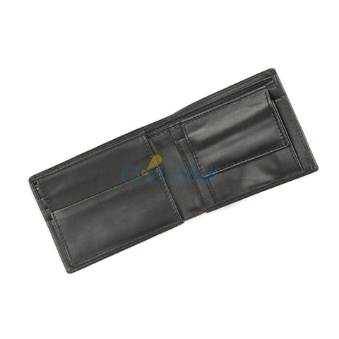 Sheikh Leather Black Leather Wallet-03 SLC-CP