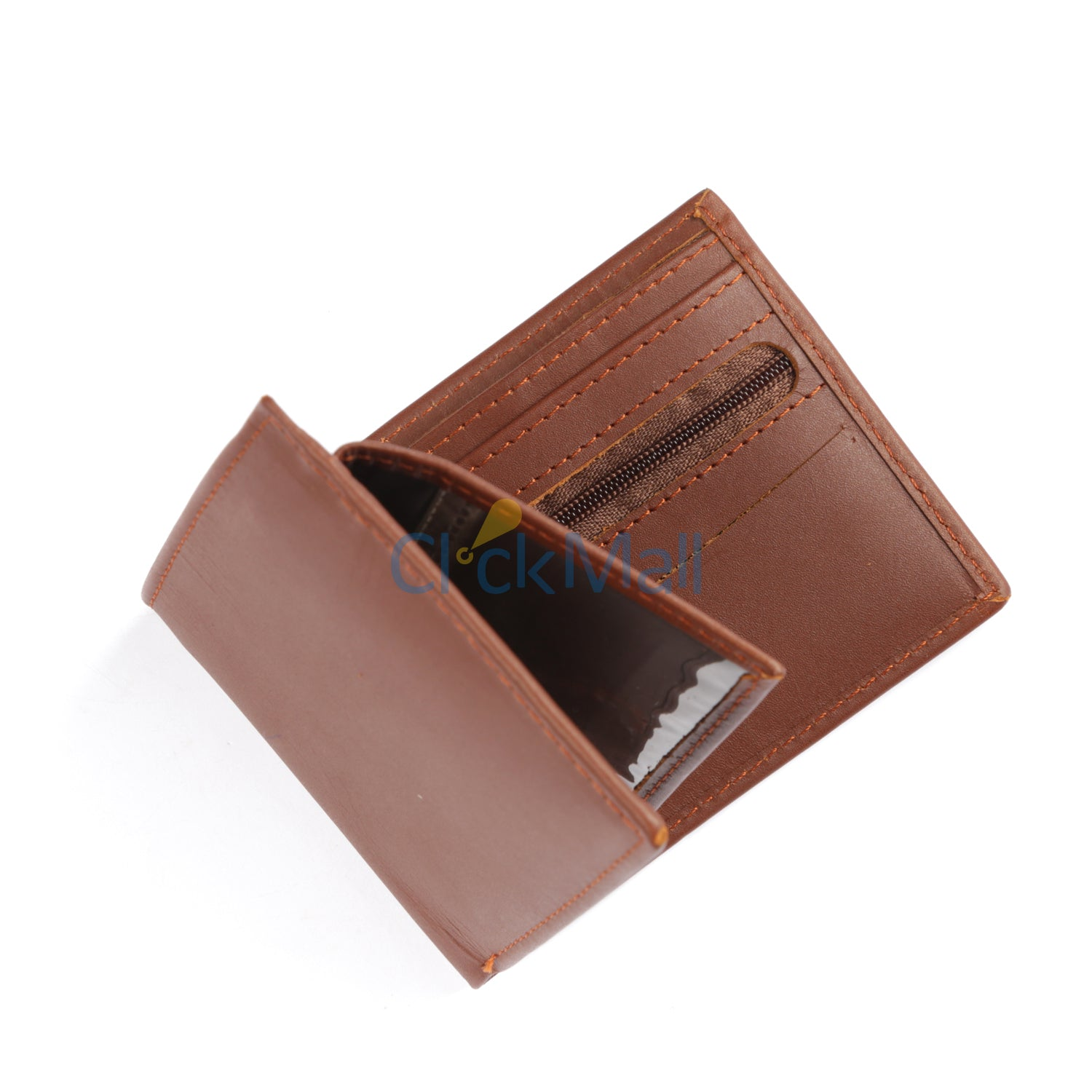 Sheikh Leather Brown Leather Wallet-04 SLC-FC-Coin