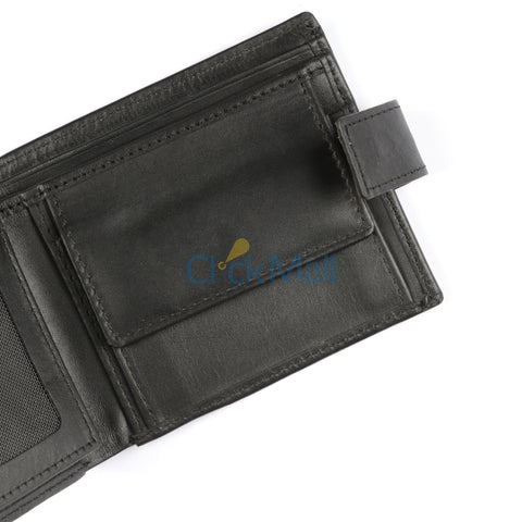 Sheikh Leather Black Leather Wallet-02 SLC-CP