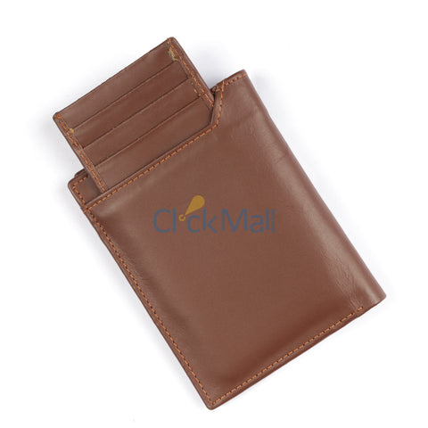Sheikh Leather  Brown Leather Wallet-06 SLC-C-Holder