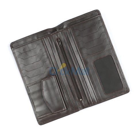 Sheikh Leather Black Leather Wallet-10 SLC-XL-Long
