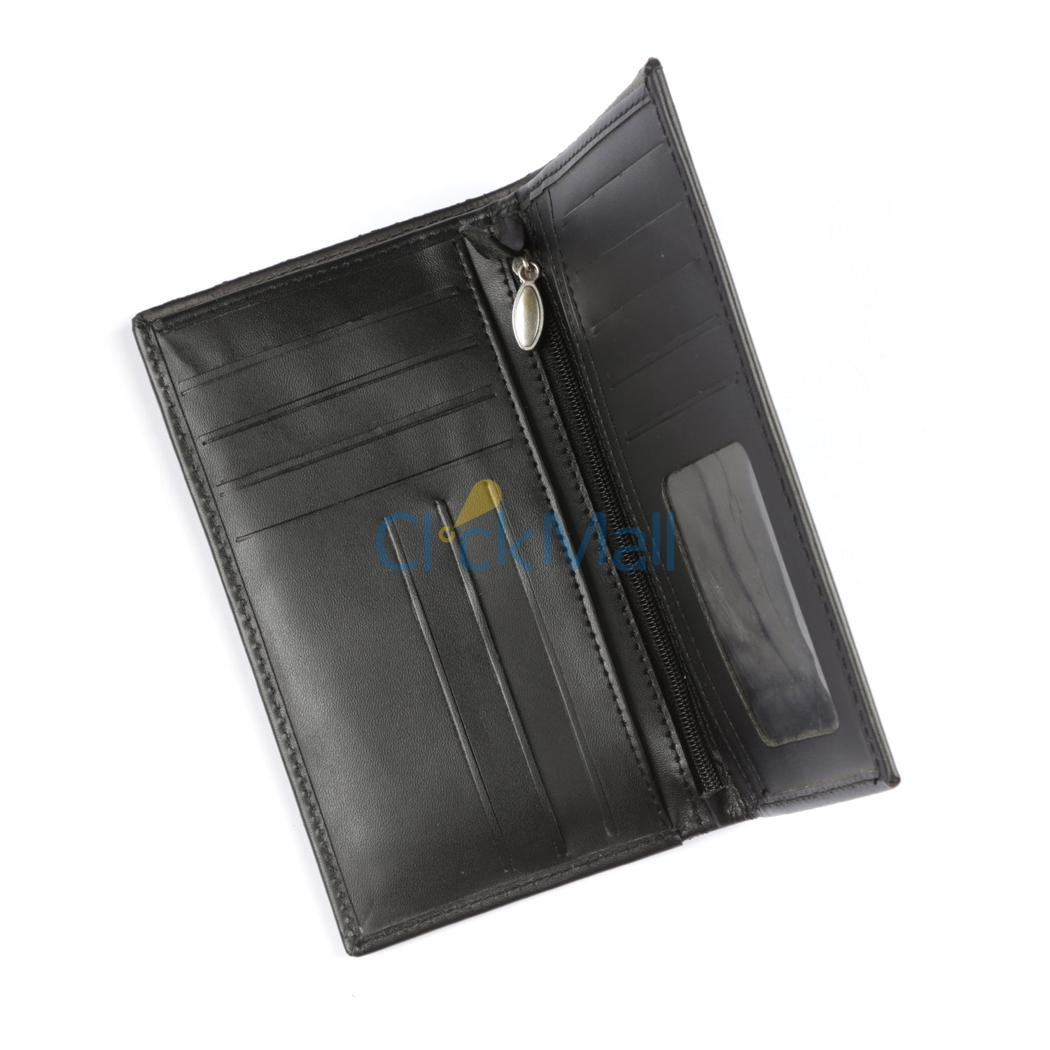 Sheikh Leather Black Leather Wallet-09 SLC-24C-BL