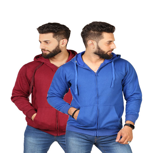 Pack Of 2 Maroon Zipper And RoyalBlue Zipper - SMD-05