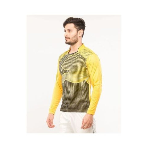 Asaan Sports Long Sleeve Fleece Sport Tshirt For Men And Women - Yellow