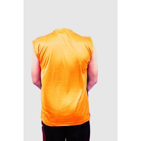Asaan Sports Half Sleeve High Quality Fleece Sport Tshirt For Men And Women - Orange