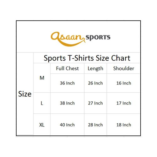 Asaan Sports Half Sleeve High Quality Fleece Sport Tshirt For Men And Women - Yellow