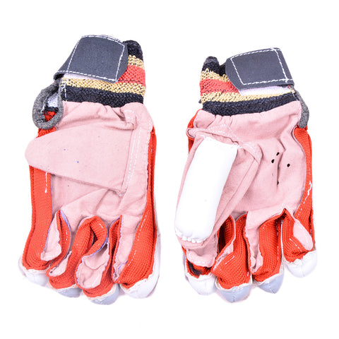 Cricket Batting Gloves for Kids (For Children Under 14 Years, Long Lasting Leather Material) -SP-357