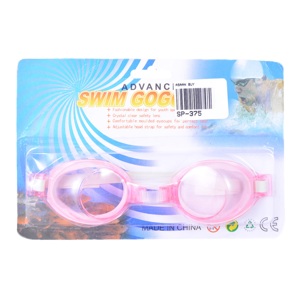 Swimming Goggles for Kids With Ear and Nose Plugs - Pink-SP-375