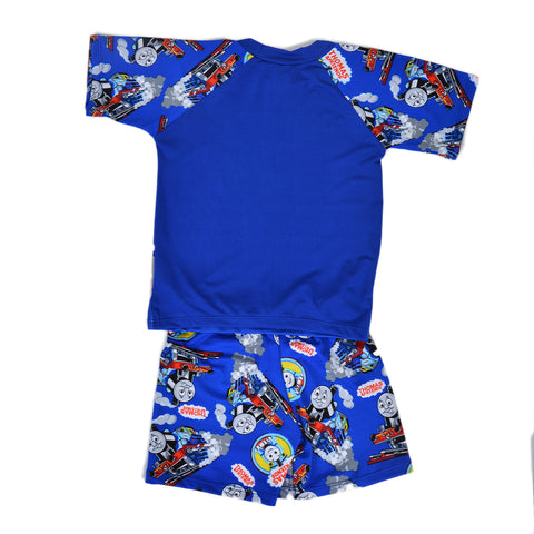 Thomas Train Swimming Suit for Kids - Blue (3 to 4 Years)-SP-398
