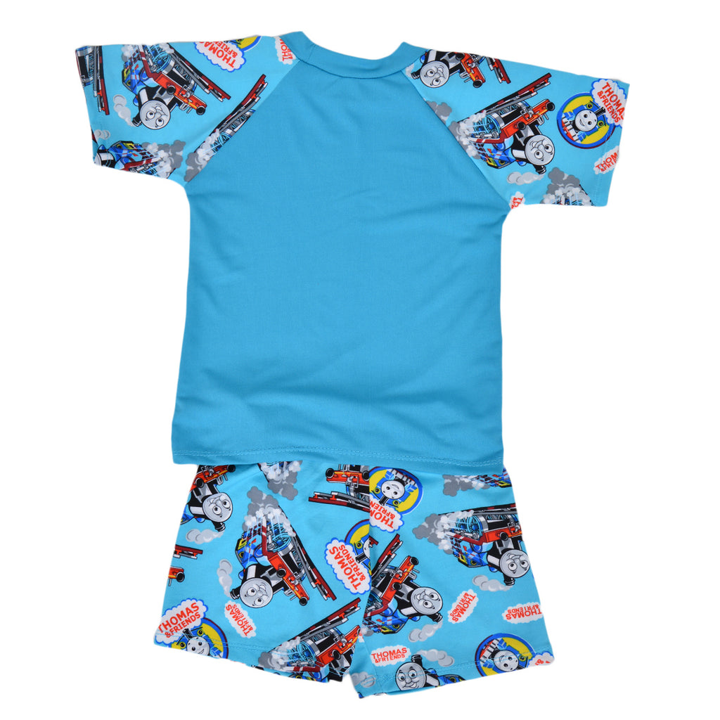 Thomas Train Swimming Suit for Kids - Sky Blue (3 to 4 Years)-SP-399