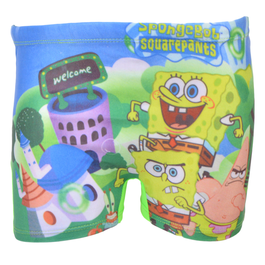 Sponge Bob Square Pants Mini Swimming Shorts for Kids (for 2-4 Year Kids)-SP-417
