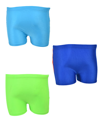Pack of 3 Multicolour Mini Swimming Shorts for Kids (for 2-4 Year Kids)-SP-418