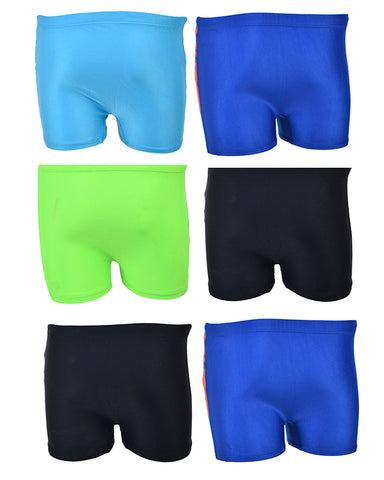 Pack of 6 Multicolour Mini Swimming Shorts for Kids (for 2-4 Year Kids)-SP-419
