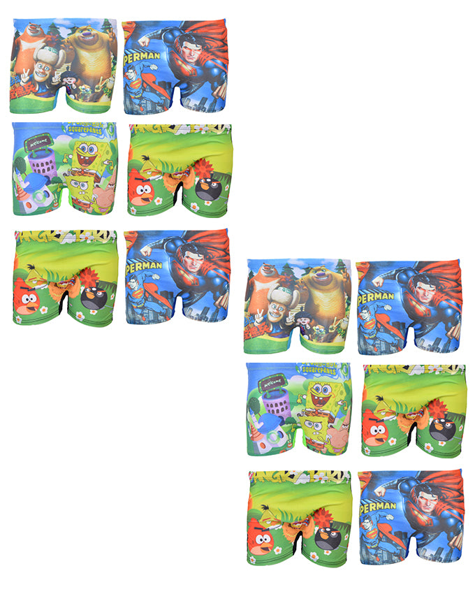 Pack of 12 Multicolour Mini Swimming Shorts for Kids (for 2-4 Year Kids)-SP-420