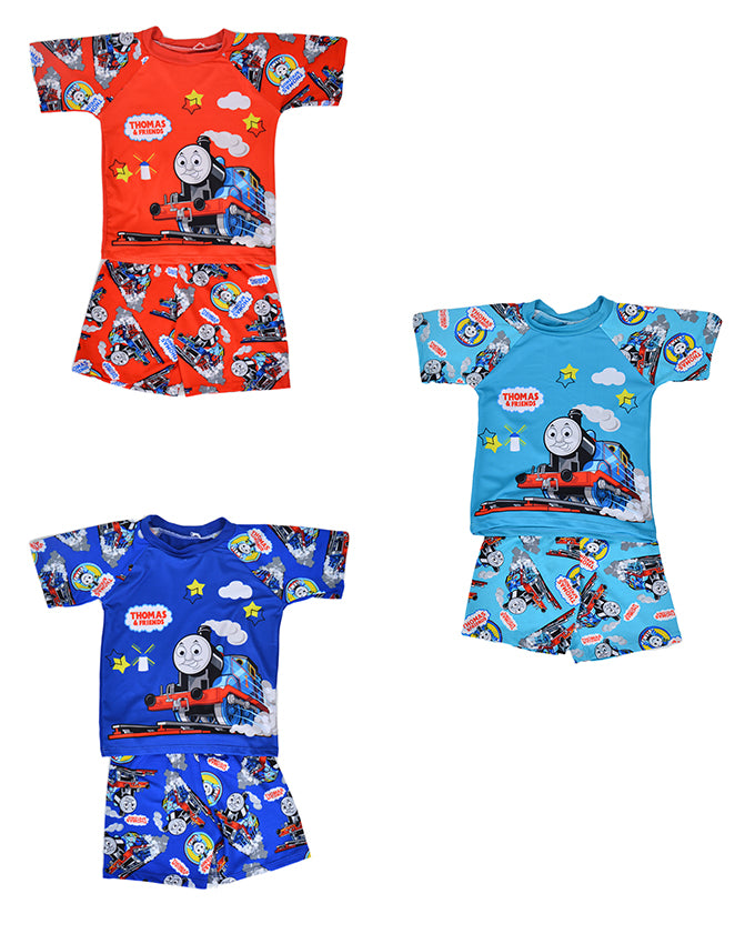 Pack of 3 Cartoon Character Swimming Suit for Boys - Multicolor (3 to 4 Years)-SP-421