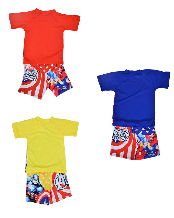 Pack of 3 Cartoon Character Swimming Suit for Boys - Multicolor (2 to 3 Years)-SP-422