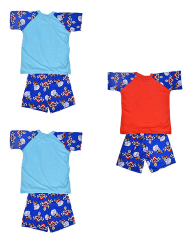 Pack of 3 Cartoon Character Swimming Suit for Boys - Multicolor (4 to 5 Years)-SP-423
