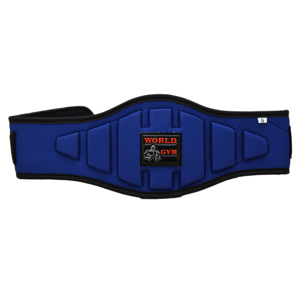 World Gym Weight Lifting Gym Fitness Power Belt Back Pain Support Belt -Blue - SP-499-S