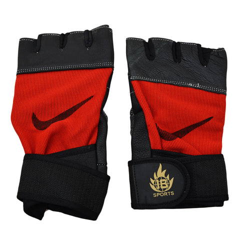 2 Pcs Gym Gloves - Red - SP-509