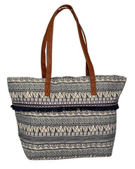 Multicolor Canvas Shopping Bag Shoulder & Hand Bag
