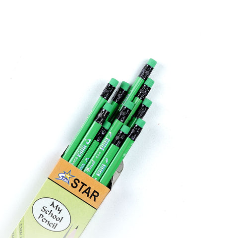 Happy Work Star My School Pencil-Trilobe ( 12 Pcs)