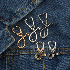 Shopping Mania Stethoscope Brooch