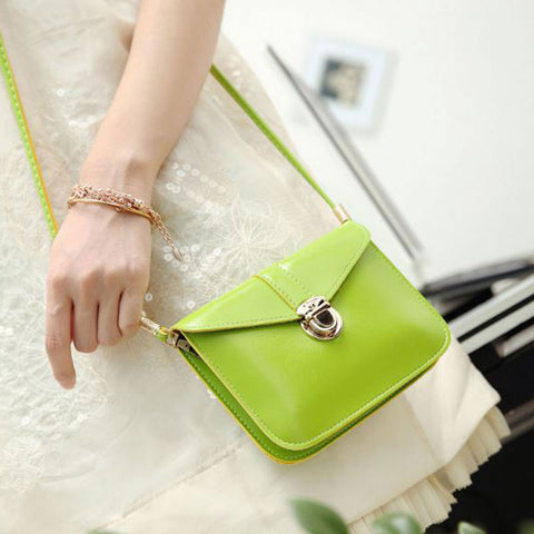 Shopping Mania Summer Green Crossbody Bag