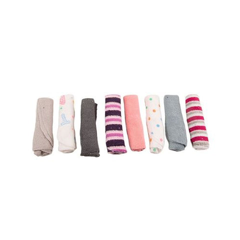 Pack of 6 - Baby Wash Cloth Face Towels - 100% Cotton - Multicolour