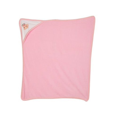 Thailand Baby Bath Towel Wash Towel For Baby Care - 100% Cotton - Pink