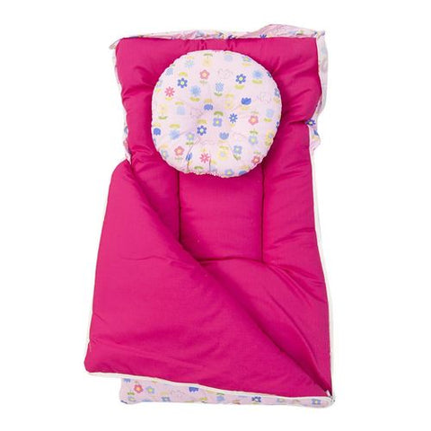 Portable Soft and Comfortable Baby Bedding Set Complete - Thailand - Pink