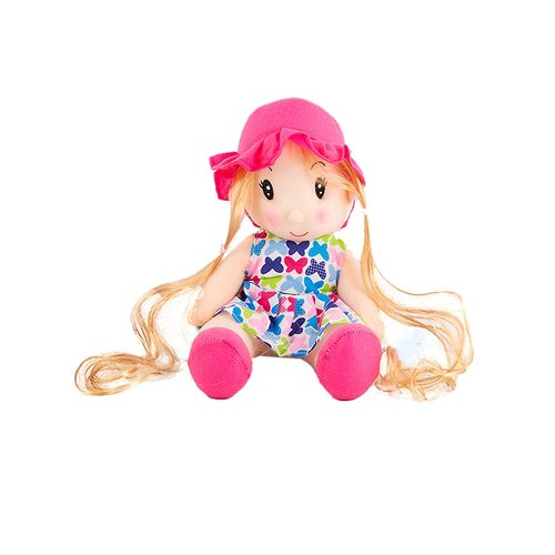 Judy Girl Stuffed Toy - Pink - Large