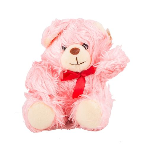 High Quality Hairy Stuffed Teddy Bear For Her - 22 Inch - Pink