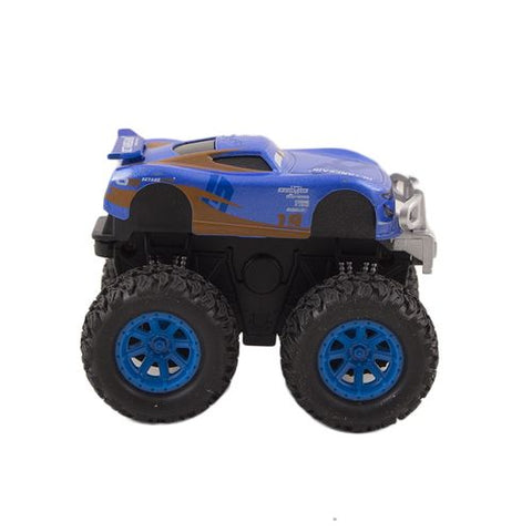 High Quality Pull Back Hotwheels Tracktor - 3.5 Inch - Blue