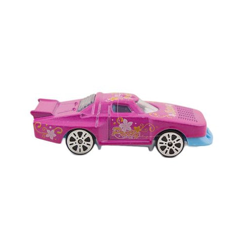 Die Cast Metal Police Roll Back Car - Pink - C