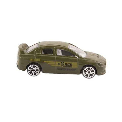 Die Cast Metal Police Roll Back Car - Green - C