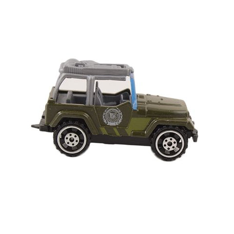 Die Cast Metal Police Roll Back Car - Green - F