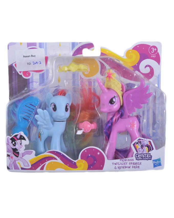 Pack of 6 Little Pony Figure Toy For Kids (Princess, Twilight Sparkle & Rainbow Dash)