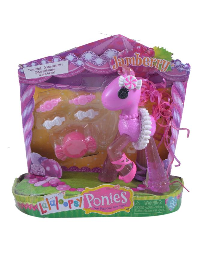 Pack of 6 - Glitter Pony Figure Toy For Kids - 7 Inch Box - Pink